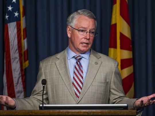 Maricopa County Attorney Bill Montgomery makes the