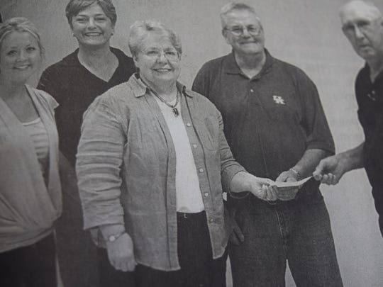 Bob Wheeler, far right, was the first donor to Union