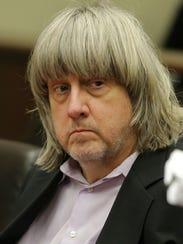 David Allen Turpin of Perris, Calif., appears in court