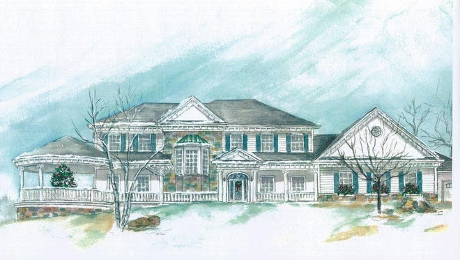 A sketch of the 25th Annual Christmas Fantasy House to Benefit Ronald McDonald House in Muskego.