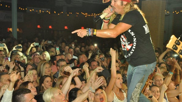 The News-Press Bret Michaels rocks the crowd at The Ranch in Fort Myers. The Poison frontman performed there on April 22.