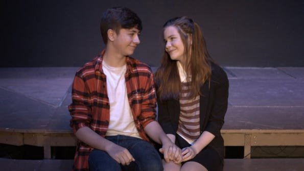 Kole Patterson, portrayting Troy Bolton rehearses with Alyssa DeCorrevont as Gabriella Montez. submitted photo