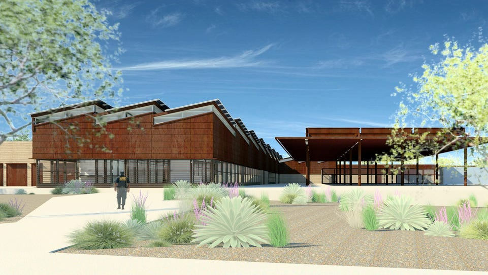 Architech's rendering of the new port of entry near
