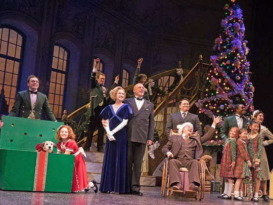"""The cast of """"Annie"""" at Paper Mill Playhouse."""