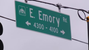 Emory Road sign