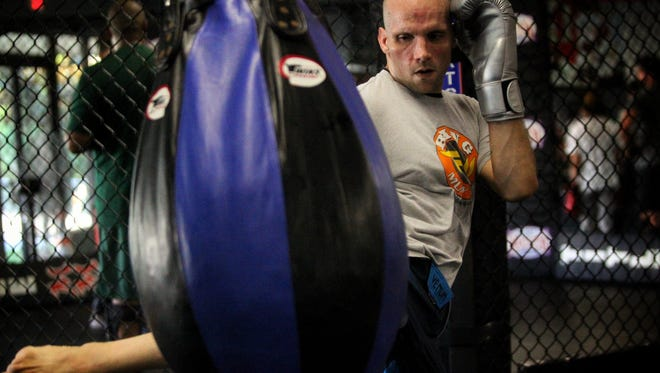 Tallahassee's Josh Lindsey trains for an upcoming MMA fight at Train, Fight, Win.