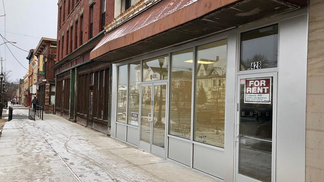 There are at least two dozen vacant storefronts, many with apartments above them, in a two-block section at the heart of Broadway in Monticello. Mayor Gary Sommers says in order to bring back business, the village needs to bring back population to support it.