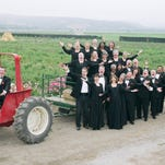 John Koza, conductor and tractor driver of the Camerata Singers of Monterey County.