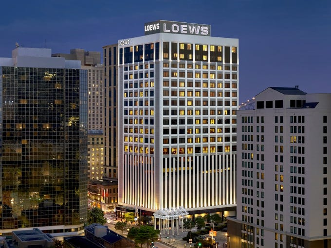 The Loews New Orleans Hotel is the 20th most in demand