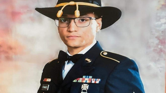 FILE - In this file photo provided by the U.S. Army is Sgt. Elder Fernandes. Police say a body found near Fort Hood, Texas, is likely that of Fernandes. Temple police said late Tuesday, Aug. 25, 2020, that identification found with the body indicates the man may be Fernandes. Fernandes is the third soldier from Fort Hood to go missing in the past year.