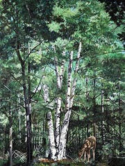 """""""Birch Tree"""" by Christy Ohman, part of the """"Startings"""""""