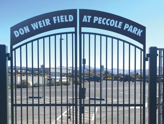 Peccole Park's playing surface will now be called Don Weir Field. This is a conceptual rendering.