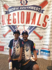 Trace Taijeron, center fielder for the Guam 8u All