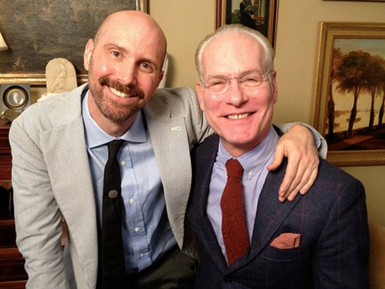 """Director-subject David Thorpe and """"Project Runway"""" host Tim Gunn of the documentary """"Do I Sound Gay?"""""""