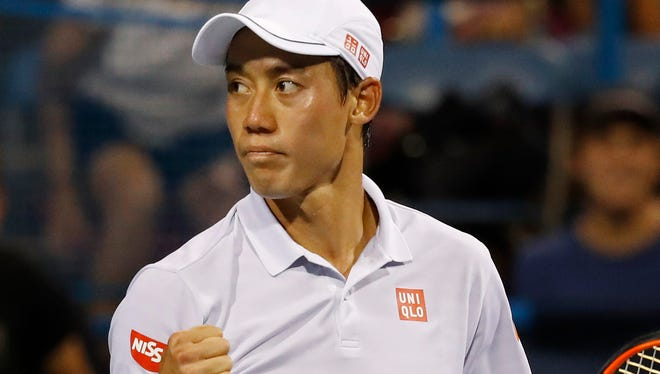 Kei Nishikori has been sidelined since August with a wrist injury.