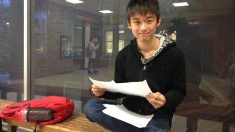 Lin Muyang, a senior from Shenzhen majoring in journalism, says he knows the University of Iowa has tried to help international students integrate into Iowa life but thinks their impact is limited. He says his studies take up a lot of his time.