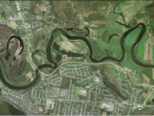 Winooski River Aerial