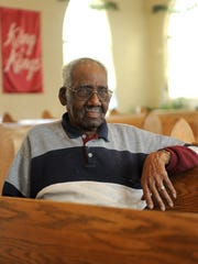 Wesley Hood, 90, sits in a pew at Greater Mitchell Chapel AME Church and recalls fond memories from his involvement in the church community. Greater Mitchell Chapel AME Church which will be celebrating it's 150th anniversary Sunday.