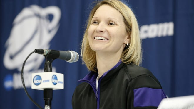 Northwestern State coach Brooke Stoehr takes her team against SLU on Saturday.
