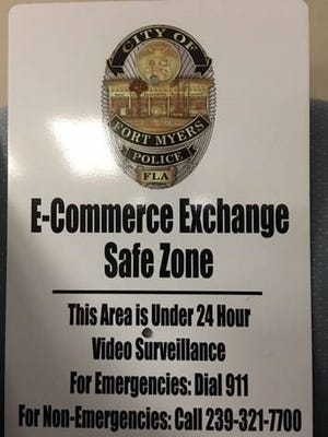 The Fort Myers Police Department has set up an e-commerce safety zone.