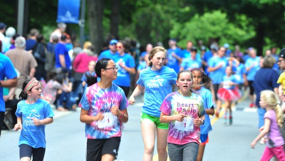 The Girls on the Run 5K was held at UNC Asheville in