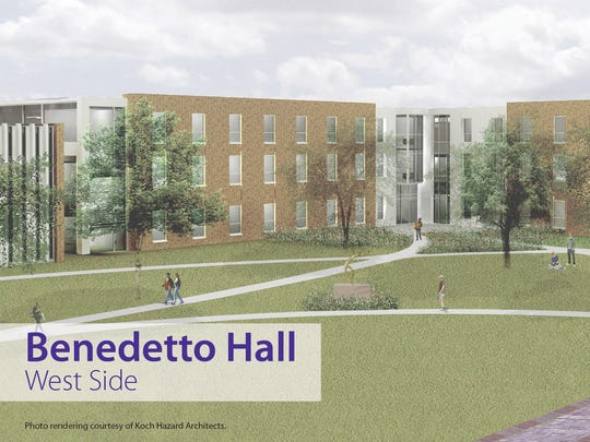 Benedetto Hall is named after long-serving University of Sioux Falls President Mark Benedetto.
