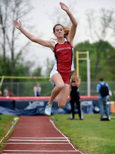 Annville-Cleona's Reagan Hess jumped to a new county