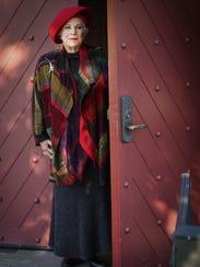 Emily Knox wears a Linea Klub by Kina Fernandez grey