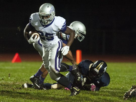 Brattleboro's Cheick Diakite is arguably the state's top returning running back.