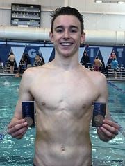 Colonia's John Piccinic won two medals at the Meet