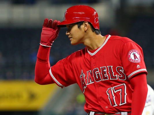USP MLB: LOS ANGELES ANGELS AT KANSAS CITY ROYALS S BBA KC LAA USA MO