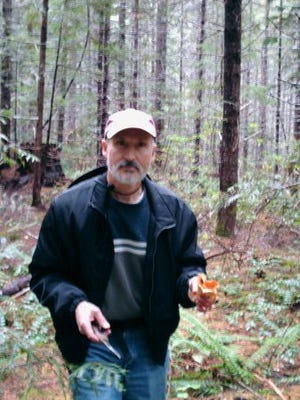 Ron Patton is seen on his first foray in 2008 with the Cascade Mycological Society.