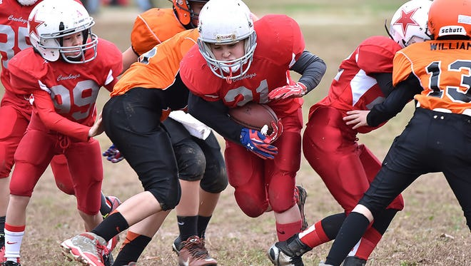 Minors Tri-County Junior Pro football semifinals - . Burns hosts White Bluff.