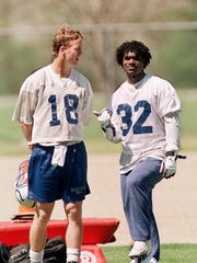 Peyton Manning and Edgerrin James during their first