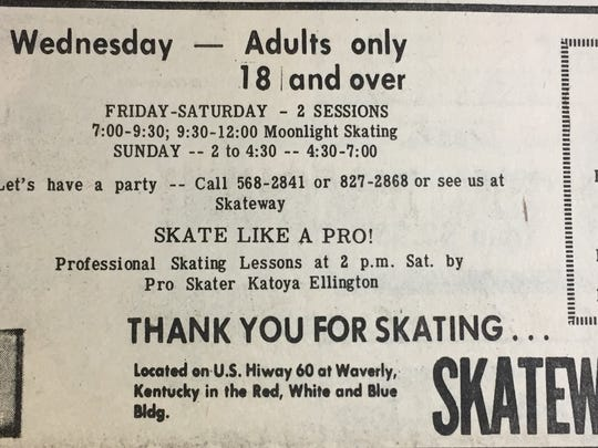 A Christmas advertisement for Skateway U.S.A.