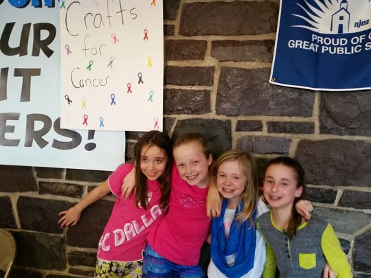 At Robert Hunter School in the Flemington-Raritan Regional School District, fourth-grade students Nadia Espinoza, Rachel Connor, Avery Griffing and Rachel Farber raised money for the Hunterdon Medical Center Regional Cancer Center. The girls spent their lunch and recess planning ways to raise money. On March 11, the girls hosted Crafts for Cancer at the PTO Book Fair/Star Family Reading Night and raised more than $100. For a small donation, contributors could create a picture frame, baseball card holder or bracelet. The girls also sold baked goods.