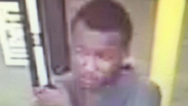 Robbery suspect caught on surveillance video.
