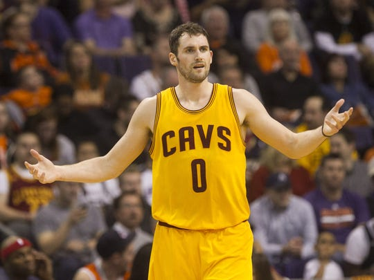 Cavaliers power forward Kevin Love is involved in rumors surrounding the Phoenix Suns.