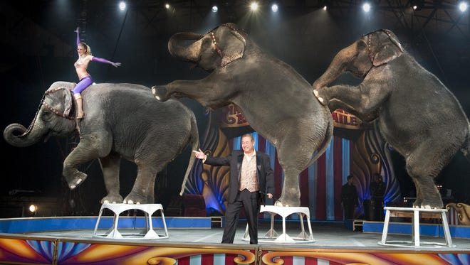 Garden Brothers Circus features elephants, acrobats and more.