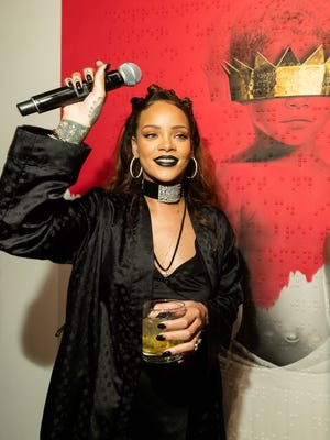 Rihanna at MAMA Gallery on October 7, 2015 in Los Angeles, California.