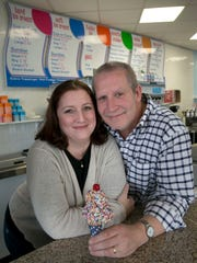 Michelle and Brian McMullin, Oceanport, own Gracie and Dudes Organic Ice Cream in Pier Village in Long Branch. They also have a store in Sea Bright.