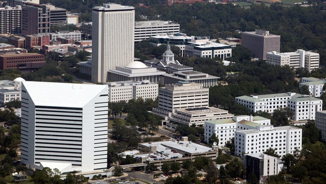 An aerial view of Tallahassee.