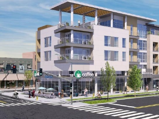 The four- to five-story project between East Avenue
