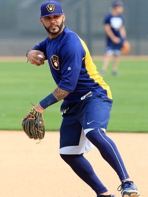 Jonathan Villar is expected to be the Brewers' everyday second baseman this seaon.