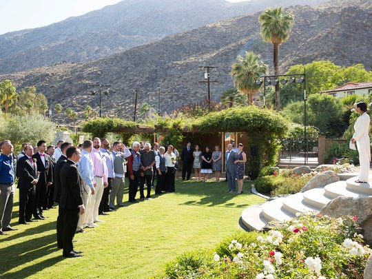"""The 'Top Chef' """"Big Gay Wedding"""" episode filmed at Colony 29 in Palm Springs."""