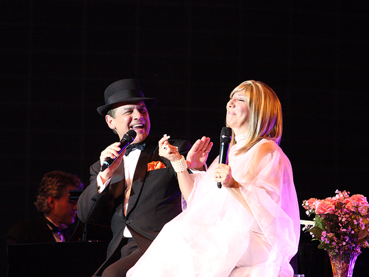 """February 13th, is the Frank Sinatra and Barbra Streisand tribute concert, """"Barbra and Frank, The Concert That Never Was.""""  It has been voted """"best tribute show"""" in Las Vegas."""