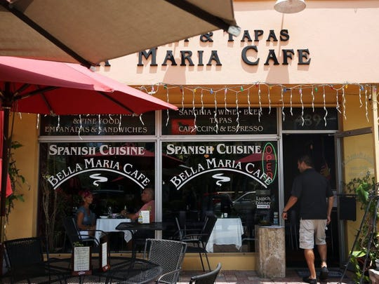 Margie and Mike Whitmarsh of Marco Island eat lunch at Bella Maria Cafe on Fifth Avenue South in Naples on Wednesday, April 27, 2016. The last day of business for the café is Friday.