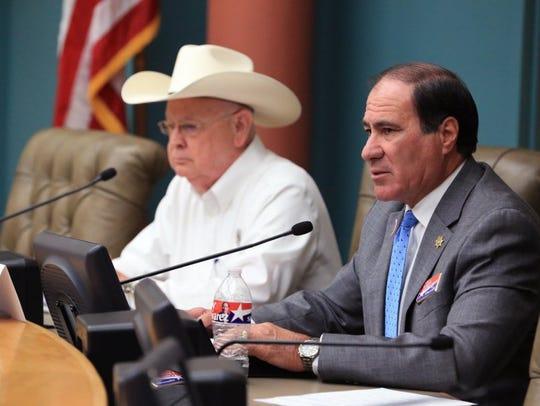 Jim Kaelin (left) and Larry Olivarez, candidates for