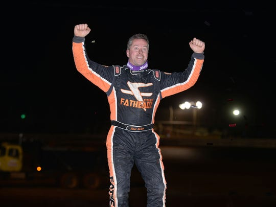 York's Rick Eckert, seen here in a file photo, now has 197 career late-model victories.
