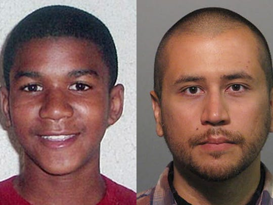 Trayvon Martin, left, and George Zimmerman. right.